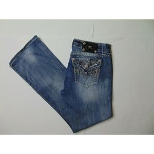 Miss Me 28 X 33 Easy Boot Blue Jeans Stretch Denim